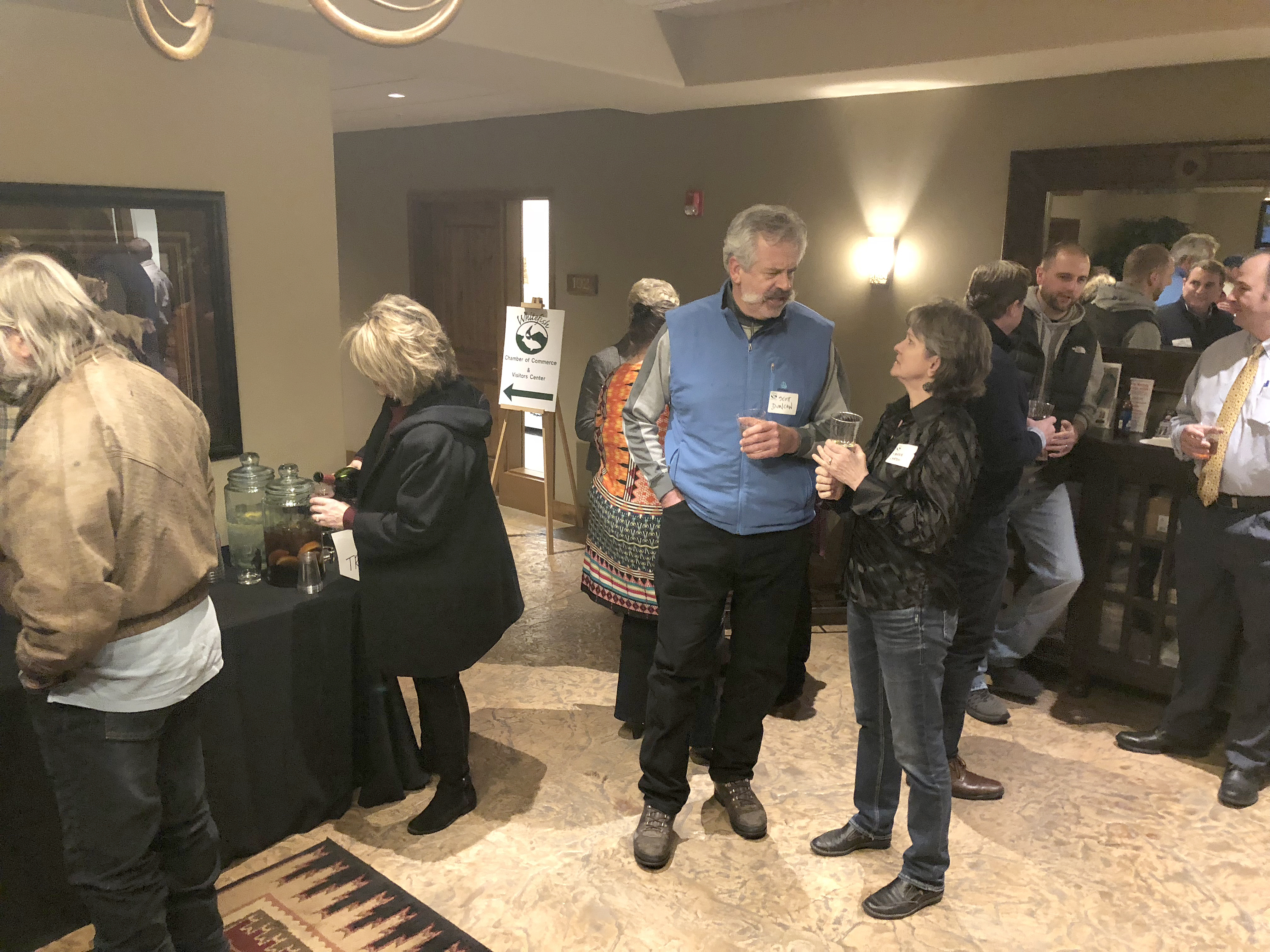 Kerrie Cardon Realtor At RE MAX Rocky Mountain Real Estate Visits With Guests